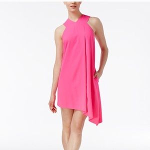 Rachel Roy Pink Sleeveless Dress Asymmetrical Hem
